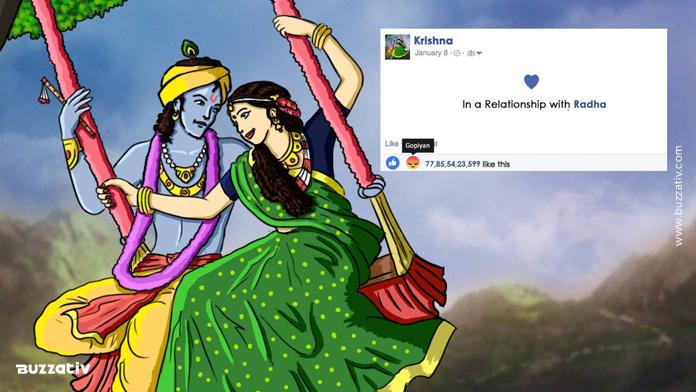 krishna facebook update